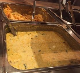 mac-n-cheese and creamed corn