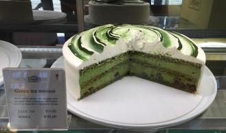 Green tea mousse